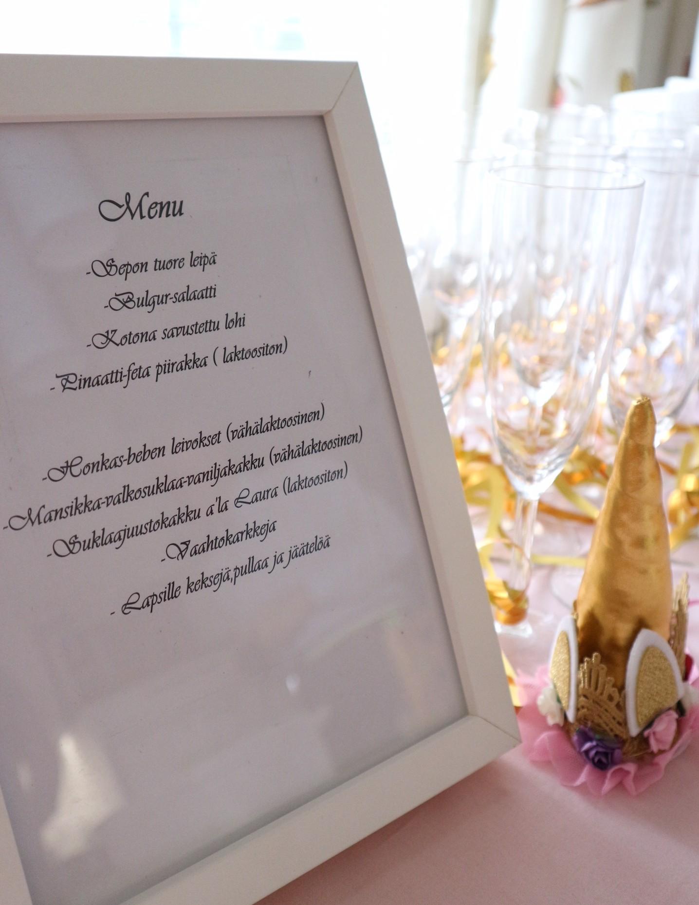 nimiäisjuhla menu
