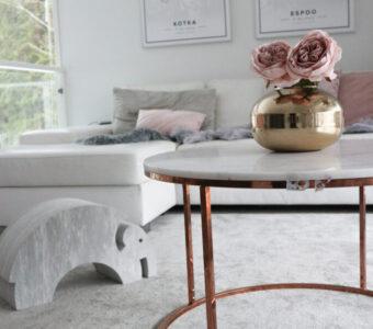 pyöreä marmori sohvapöytä